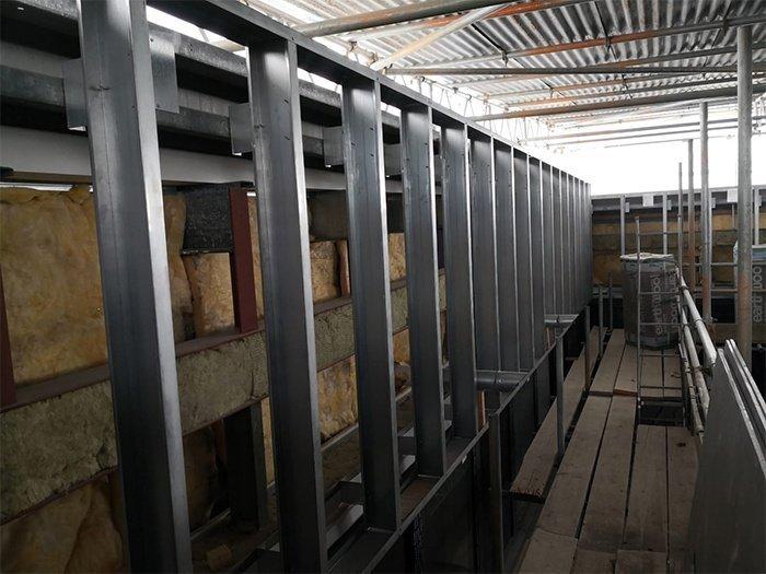 steel frame work